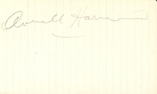 Autographs: W. AVERELL HARRIMAN - SIGNATURE(S)