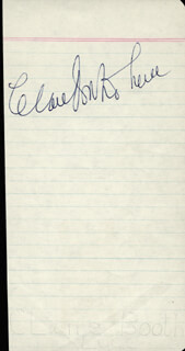CLARE BOOTHE LUCE - AUTOGRAPH
