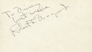 ROBERT F. WAGNER JR. - INSCRIBED SIGNATURE