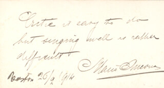 Autographs: MARIO ANCONA - AUTOGRAPH QUOTATION SIGNED 02/26/1914