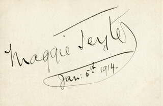 MAGGIE TEYTE - AUTOGRAPH 01/05/1914
