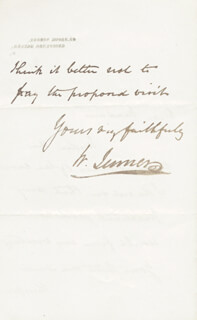 WILLIAM 1ST BARONET JENNER - AUTOGRAPH LETTER SIGNED 11/17/1870