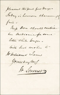 WILLIAM 1ST BARONET JENNER - AUTOGRAPH LETTER SIGNED 08/07/1869