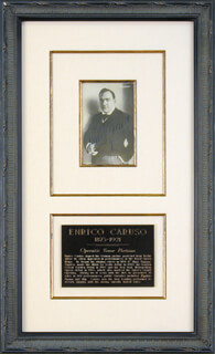 ENRICO CARUSO - PICTURE POST CARD SIGNED