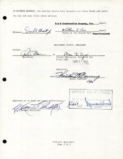 Autographs: VICE PRESIDENT SPIRO T. AGNEW - DOCUMENT SIGNED 01/11/1966