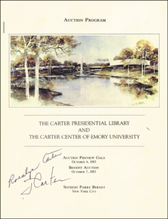 PRESIDENT JAMES E. JIMMY CARTER - PROGRAM SIGNED CIRCA 1983 CO-SIGNED BY: FIRST LADY ROSALYNN CARTER
