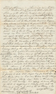 SLAVE PAPER - AUTOGRAPH DOCUMENT SIGNED 03/04/1848