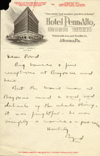 Autographs: REAR ADMIRAL RICHARD E. BYRD - AUTOGRAPH LETTER SIGNED