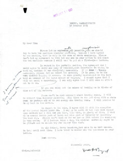 Autographs: REAR ADMIRAL RICHARD E. BYRD - TYPED LETTER SIGNED 10/12/1931