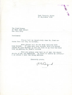 Autographs: REAR ADMIRAL RICHARD E. BYRD - TYPED LETTER SIGNED 09/29/1931
