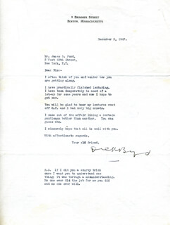 Autographs: REAR ADMIRAL RICHARD E. BYRD - TYPED LETTER SIGNED 12/05/1947