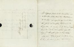 JULIUS JEFFREYS - THIRD PERSON AUTOGRAPH LETTER 01/17/1842