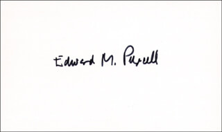 Autographs: EDWARD M. PURCELL - SIGNATURE(S) CIRCA 1970