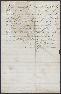 EDWARD LIVINGSTON YOUMANS - AUTOGRAPH LETTER SIGNED 04/19/1876