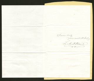 LUKE P. POLAND - AUTOGRAPH LETTER DOUBLE SIGNED 05/09/1873