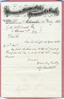 ALEXANDER MITCHELL - AUTOGRAPH LETTER SIGNED 05/10/1873
