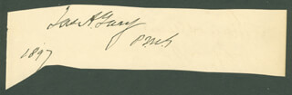 Autographs: JAMES A. GARY - SIGNATURE(S) 1897