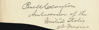 Autographs: BRIGADIER GENERAL POWELL CLAYTON - CLIPPED SIGNATURE