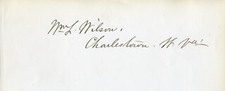WILLIAM LYNE WILSON - AUTOGRAPH