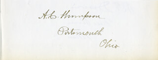 ALBERT C. THOMPSON - AUTOGRAPH CO-SIGNED BY: R. T. (ROBERT THOMPSON) DAVIS