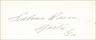 SEABORN REESE - AUTOGRAPH CO-SIGNED BY: ADONIRAM J. HOLMES
