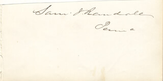 SAMUEL J. RANDALL - CLIPPED SIGNATURE