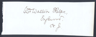 WILLIAM WALTER PHELPS - AUTOGRAPH