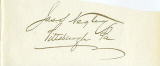 MAJOR GENERAL JAMES SCOTT NEGLEY - AUTOGRAPH