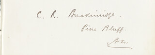 CLIFTON R. BRECKINRIDGE - AUTOGRAPH