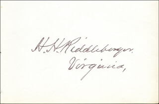 HARRISON H. RIDDLEBURGER - AUTOGRAPH