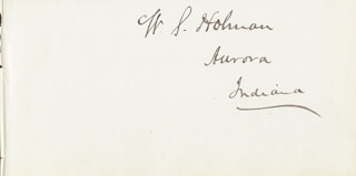 Autographs: WILLIAM S. HOLMAN - SIGNATURE(S)