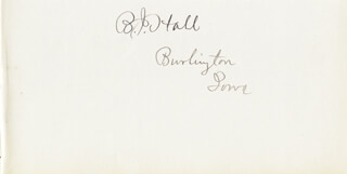Autographs: BENTON J. HALL - SIGNATURE(S)