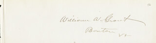 WILLIAM W. GROUT - AUTOGRAPH