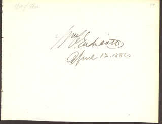 WILLIAM C. ENDICOTT - AUTOGRAPH 04/12/1886