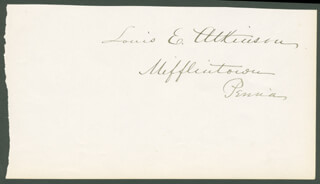 Autographs: LOUIS E. ATKINSON - CLIPPED SIGNATURE