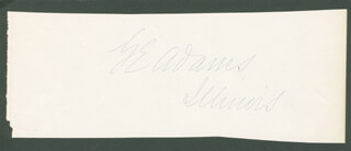 Autographs: GEORGE EVERETT ADAMS - SIGNATURE(S)