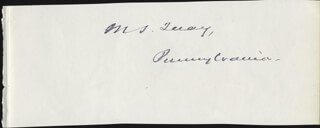 MATTHEW S. QUAY - AUTOGRAPH CO-SIGNED BY: ARTHUR O'CONNOR
