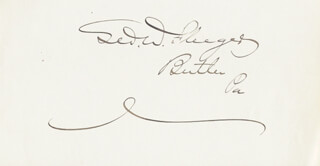 GEORGE W. FLEEGER - AUTOGRAPH
