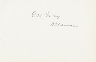 GEORGE GRAY - AUTOGRAPH