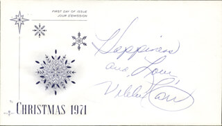 VIKKI CARR - CHRISTMAS / HOLIDAY CARD SIGNED