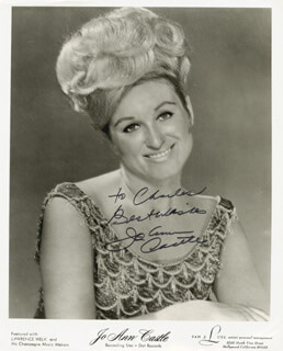 JOANN CASTLE - AUTOGRAPHED INSCRIBED PHOTOGRAPH