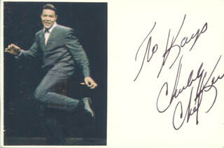 CHUBBY THE TWIST KING CHECKER - INSCRIBED SIGNATURE