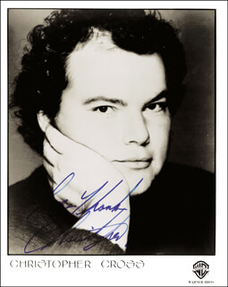 CHRISTOPHER CROSS - AUTOGRAPHED SIGNED PHOTOGRAPH