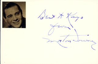 MORTON DOWNEY SR. - AUTOGRAPH NOTE SIGNED