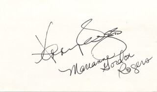 KENNY ROGERS - AUTOGRAPH CO-SIGNED BY: MARIANNE GORDON