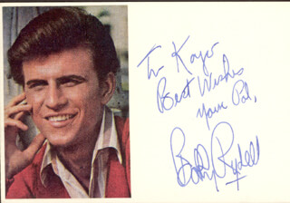 BOBBY RYDELL - AUTOGRAPH NOTE SIGNED