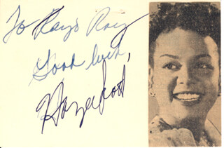 Autographs: HAZEL SCOTT - AUTOGRAPH NOTE SIGNED