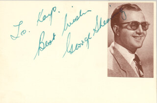 GEORGE SHEARING - AUTOGRAPH NOTE SIGNED