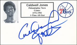 CALDWELL JONES - PRINTED CARD SIGNED IN INK