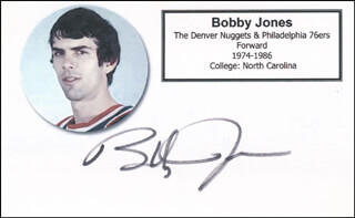 BOBBY JONES - PRINTED CARD SIGNED IN INK